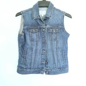 Old Navy Denim Jean Jacket Button Down Vest